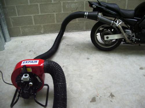 extracteurs ateliers motos aspiration gaz. Black Bedroom Furniture Sets. Home Design Ideas